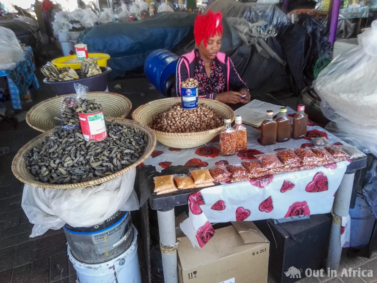 Saleswoman at the Oshetu Community Market