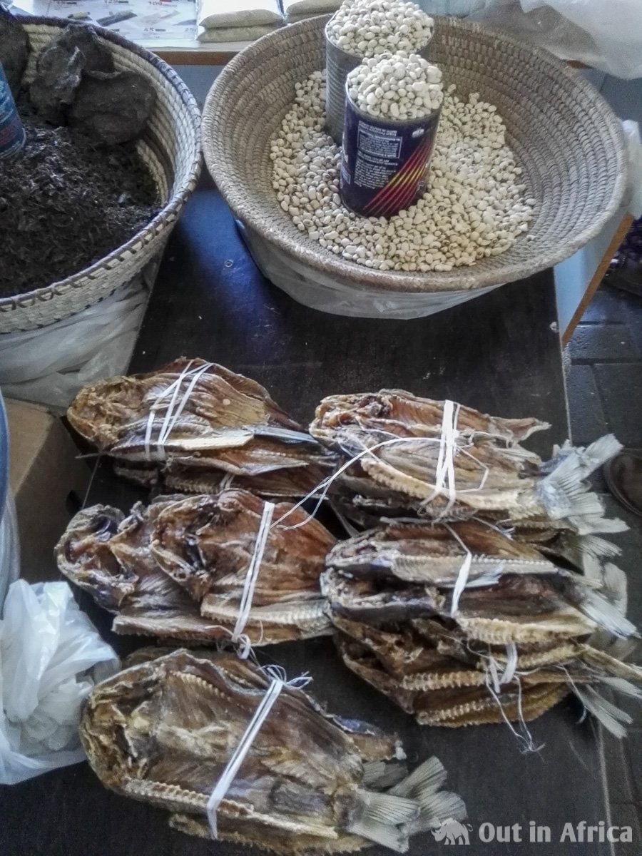 Dried fish, wild spinach and beans