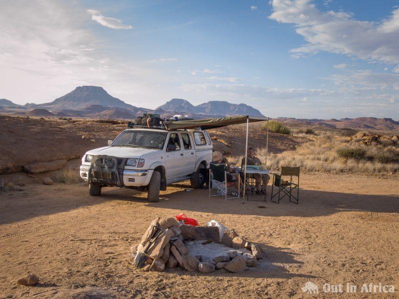 Campsite near Doros Crater