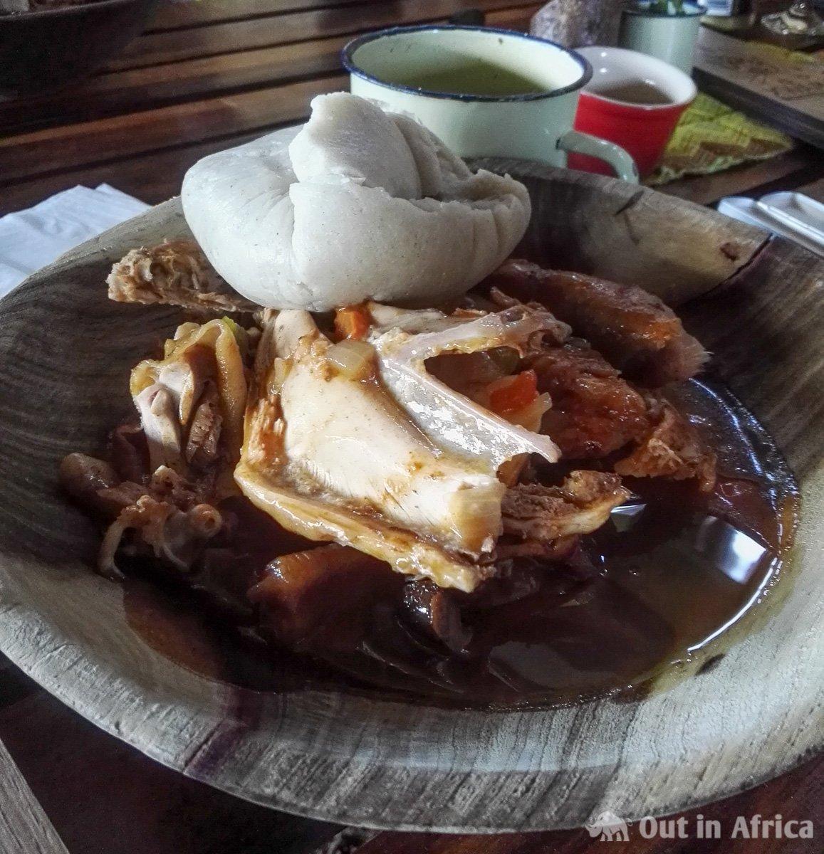 Marathon Chicken with Mahanguporridge