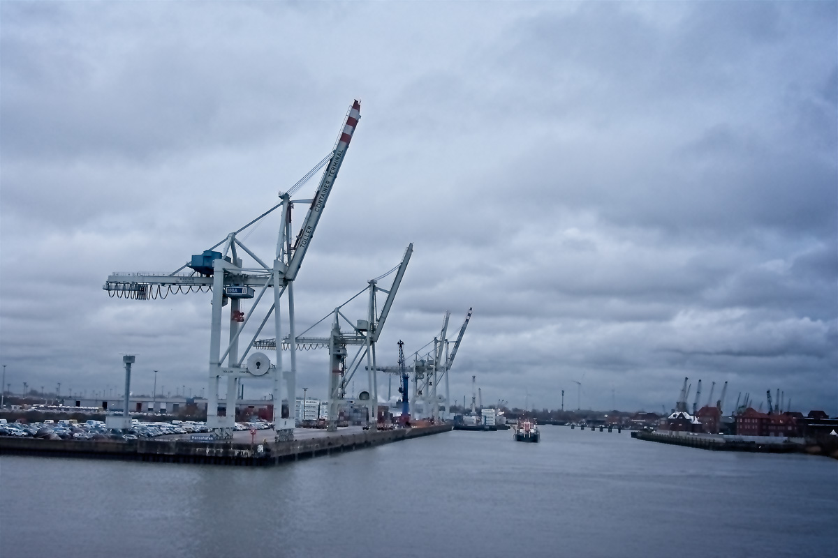 Cranes in the Port of Hamburg