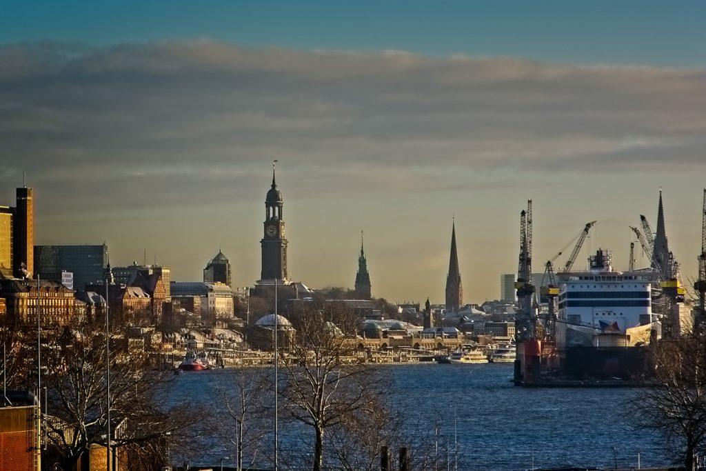 Hamburg City in the morning
