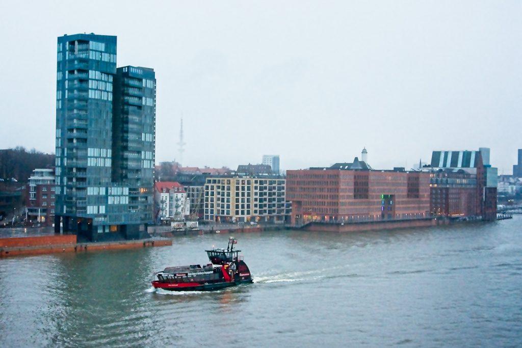 On the Elbe in Hamburg