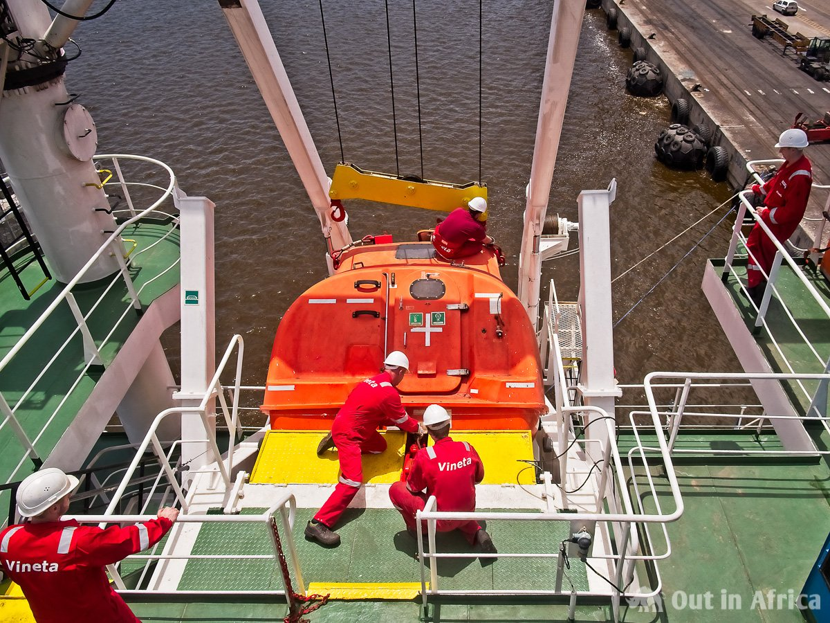 Inspection of the lifeboat