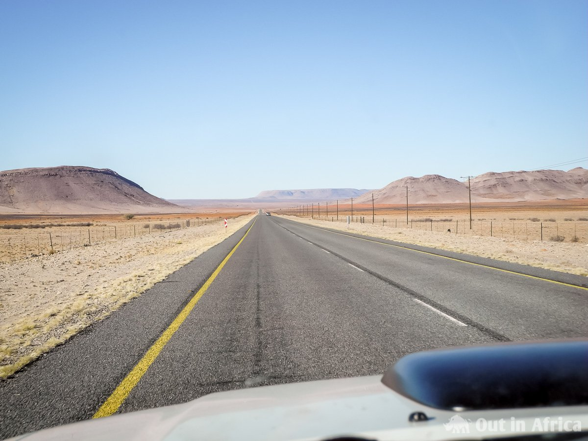 Tarred road through the Karoo