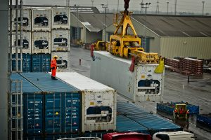 Containers are loaded